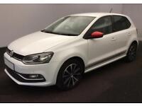 2017 WHITE VW POLO 1.2 TSI 90 BEATS PETROL 5DR HATCH CAR FINANCE FR £41 PW