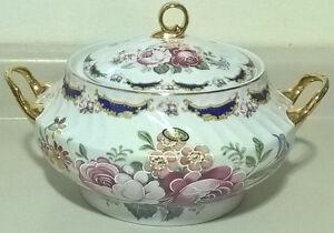 Vintage Limoges Porcelain Covered Dish/ Porcelanas T. Limoges