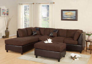 FREE SHIPPING in Victoria! Sectional Sofa with Reversible Chaise