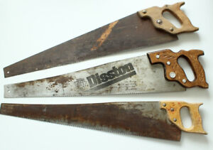 3 Vintage Disston Wood Hand Saws, $20 each or $50 for the lot