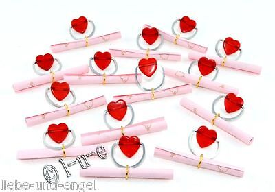 14 Ich liebe Dich Botschaften Herzanhänger Geschenke mit Organzabeutel Sie + Ihn