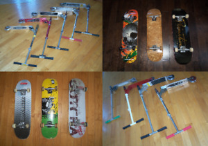 Trottinettes skate board planches a roulette