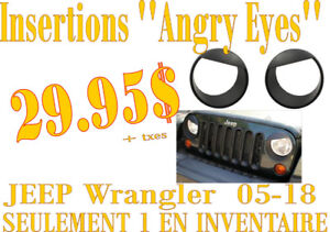 SPECIAL- ANGRY EYES pour phares/headlamp JEEP Wrangler 07-18