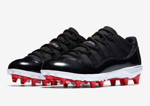 New Jordan 11 Retro Low Football Cleats Bred Size 10.5 for $225