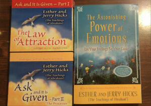 The Secret, Law of Attraction, 4 CD set and Book - E and J Hicks