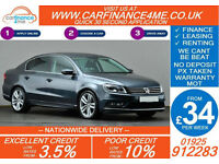 2013 VW PASSAT 2.0 TDI R LINE GOOD / BAD CREDIT CAR FINANCE FROM 34 P/WK