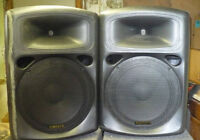 15 inch sound powered speakers