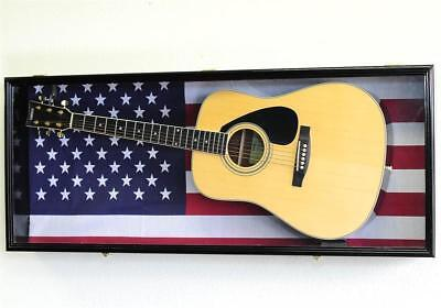 Fender Acoustic Guitar Display Case US FLAG BACKGROUND