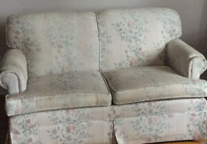 Couch/Lovesat and wing back chair for sale