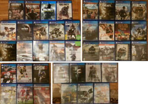 PS4 Shooter Action Sports games, Accessories (Various Prices)