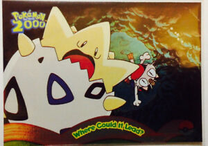 Pokemon Topps 2000 movie card# 2 rare Foil Where Could It Lead?