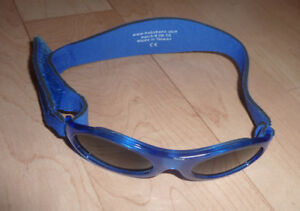Baby Banz sunglasses with neoprene strap, excellent condition
