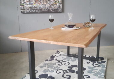 Design Esstisch Baumkante massiv Akazienholz, natur 180x90 cm x 2,6 cm NEU !!!