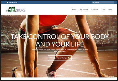 Sports Nutrition Website Fully Stocked