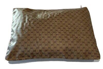 Vintage Monogram Gucci Money Pouch Interlocking G Pattern Designer Business Bag