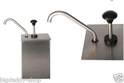 1 Bucket Sauce Dispenser Pump Squeeze Condiment Dispensing Stainless Steel S