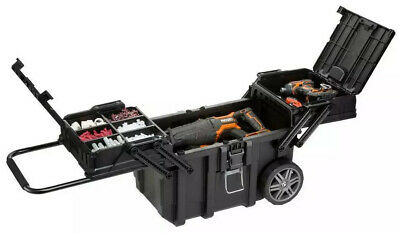 Rolling Tool Box Storage Bin Organizer Rolling Chest Portable Case Workshop Cart