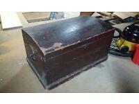Vintage Wooden Kist, storage box