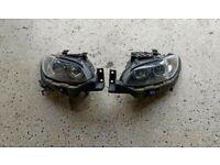 Right hand drive Bi-Xenon complete pair headlights BMW 3 series E92 2005 - 2013 RHD UK version