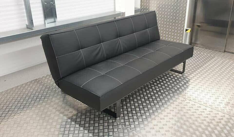 Excellent Black Leather 2 3 Seats Sleeper Sofa In London Gumtree Machost Co Dining Chair Design Ideas Machostcouk