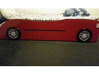 Red Car bed frame. Single comes with mattress if required.