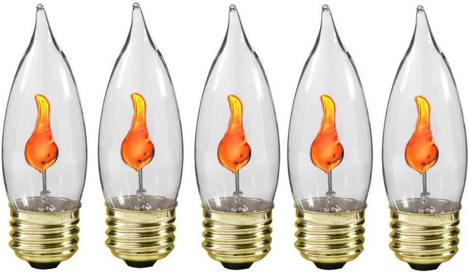 Creative Hobbies® 10J Flicker Flame Light Bulb-Flame Shaped, Stdard Base-5 bulbs Home & Garden