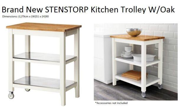 Brand New Ikea Stenstorp Kitchen Trolley White Oak Kitchen Table Bench