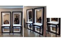 Venice Salon Floor Standing Mirror Units for sale