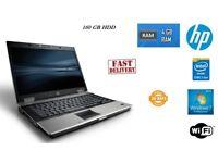 Cheap HP Elitebook 8530p Laptop Core2Duo P8700 @ 2.50GHz 4GB RAM 160GB HDD Windows 7 Professional