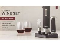 Electric Wine Set by Rabbit : Aerator Foil Cutter Preserver Electric Wine Opener