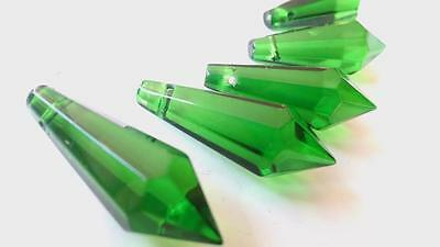 Green Icicle Chandelier Crystals, 38mm Suncatchers Jewelry Supplies Pack of 5