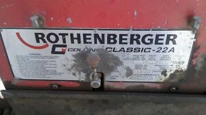 Rothenberger Pipe Threader & Trailer