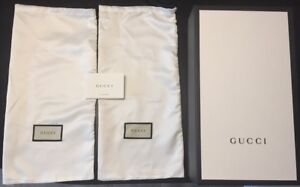 New Gucci Shoe box and 2 Gucci Shoe Bags
