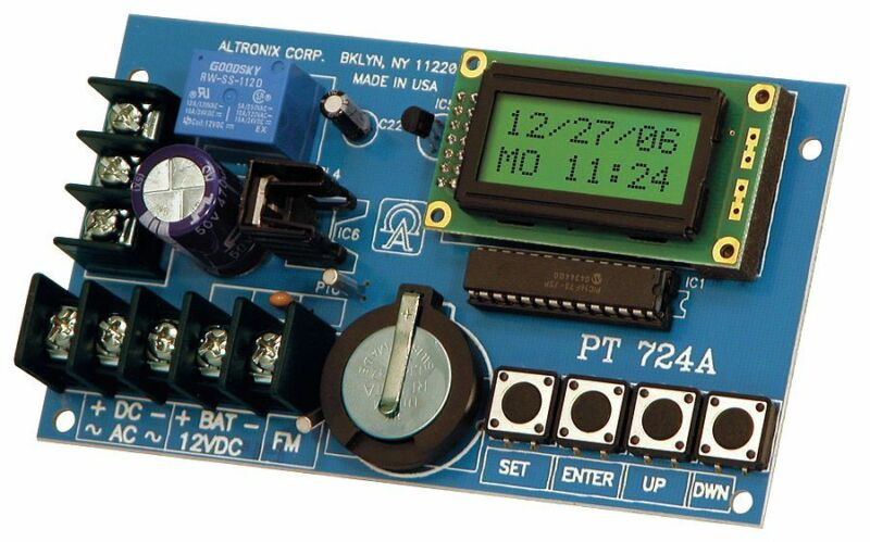 Altronix PT724A Timer- Annual Event Borad 1Ch 365 Day/24 Hr. 12/24 VAC/VDC Light