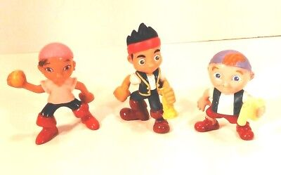 Jake and the Neverland Pirates PVC Figures Lot of 3 Cake Toppers