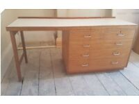 Vintage Desk, Chest if Draws, Dressing Table
