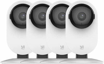 YI 4pc Home Camera, 1080p Wireless IP Security Surveillance System, Night Vision