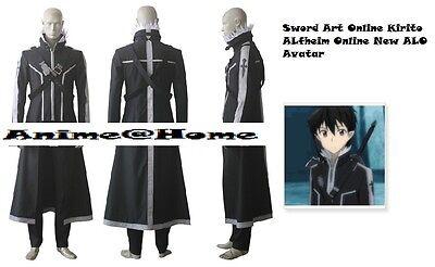 New Top Quality Sword Art Online Kirito ALfheim Online New ALO Avatar Costume](Quality Costumes Online)