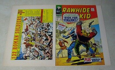 RAWHIDE KID #65 original approval cover proof, 1960's MARVEL, COVER ART!!