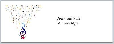 Personalized  Return Address Labels Music Notes Buy 3 get 1 free (bo 763)