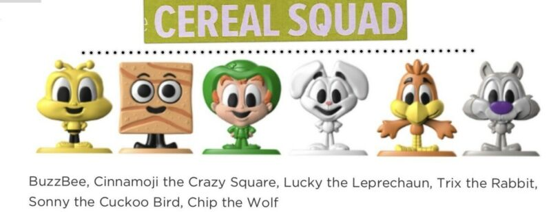Honey-nut Cheerios Cereal Squad Complete Toy Figure Set #1-6 2020 General Mills