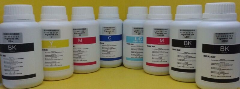8x250ml Pigment UltraChrome K3 Bulk Refill Ink for Epson Compatible Pro7600 9600