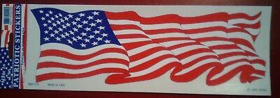 BRAND NEW BEST QUALITY USA FLAG VINYL BUMPER STICKER ADHESIVE DECAL