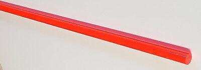 12 Od X 36 Inch Long Clear Fluorescent Orange Acrylic Plexiglass Color Rod