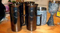 4 Silver Stein Mugs - By Crown Lynn