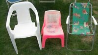 **  Kid's Dinette, Camp And Lawn Chairs **