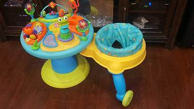 Bright Starts Doodle Bug 3-in-1 Around We Go Baby/Toddler Walker Play Station