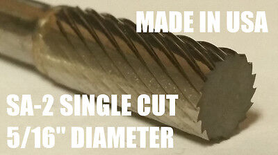 Sa2s Cylindrical End Cut 516 Carbide Burr Bur Tool Die Grinder Bit 14 Shank