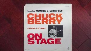 CHUCK BERRY-ON STAGE-VINYL RECORD ON THE CHESS LABEL.
