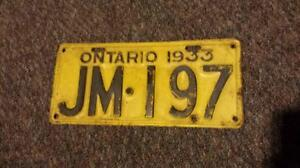Vintage/Antique Ontario License Plates (Various Years) Oakville / Halton Region Toronto (GTA) image 3